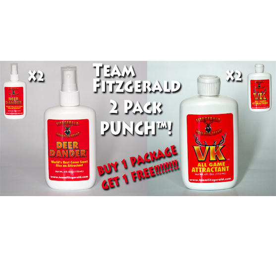 DEER DANDER AND VK TWO PACK PUNCH PACKAGE BUY 1 GET 1 FREE