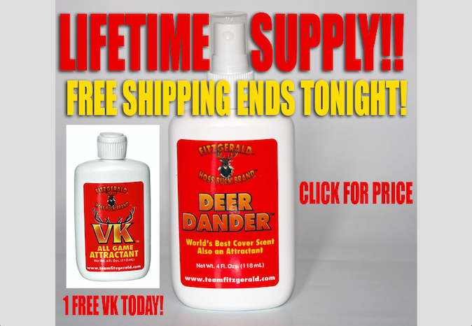 DEER DANDER LIFETIME SUPER DEEP DEAL & FREE VK TODAY